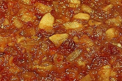 Cranberry-Chutney mit Äpfeln
