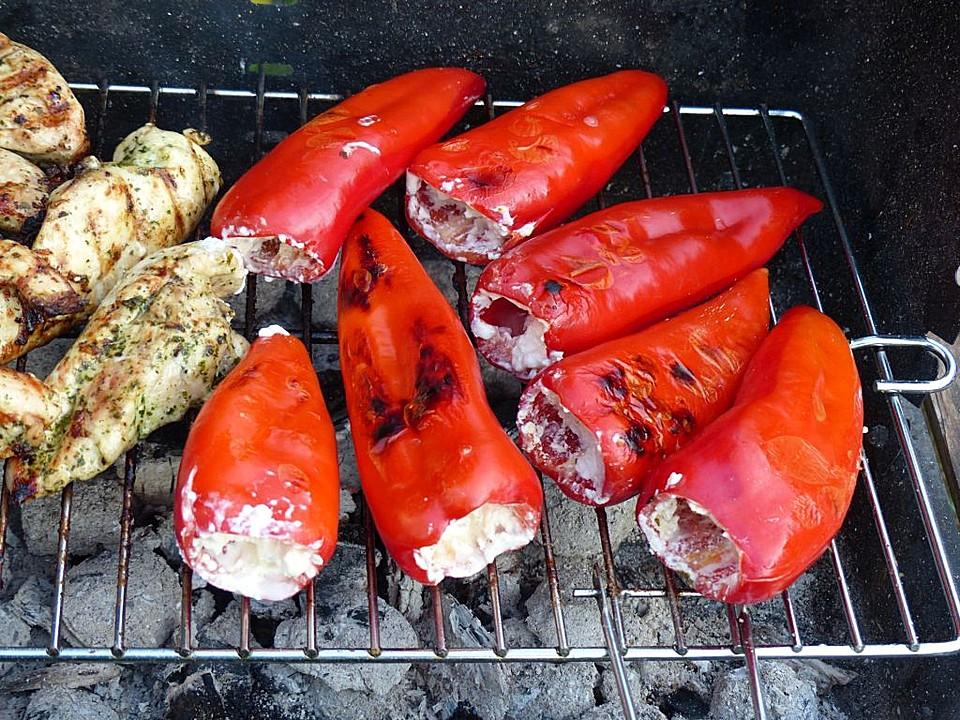 Gef llte paprikaschoten vom grill rezept mit bild for Paprika grill bremerhaven