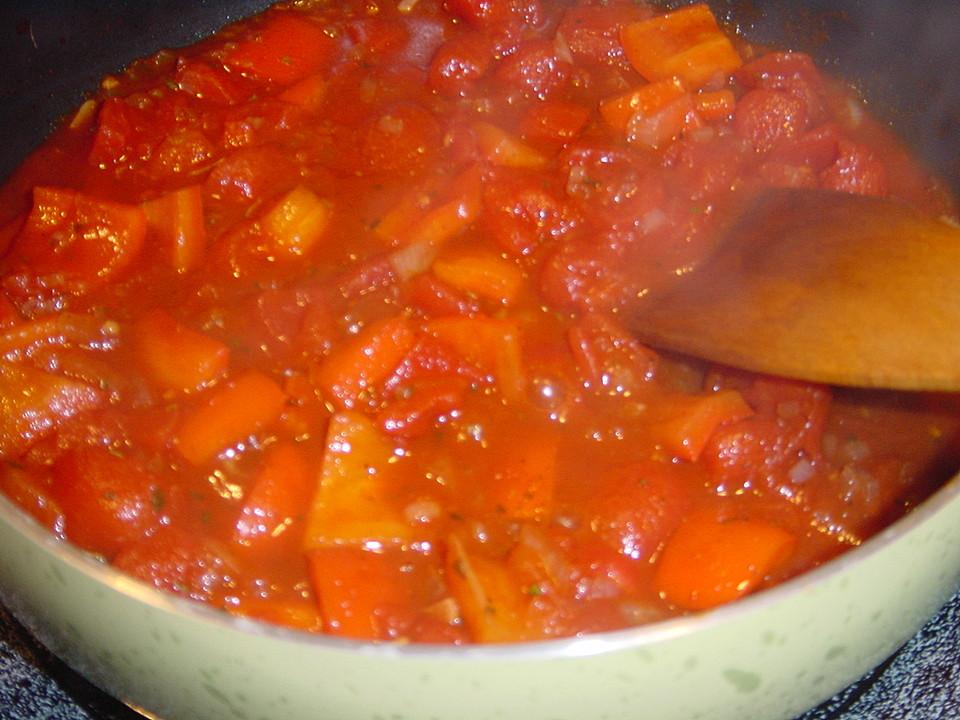 gnocchi an tomaten paprika gem se mit zucchini im ausbackteig rezept mit bild. Black Bedroom Furniture Sets. Home Design Ideas