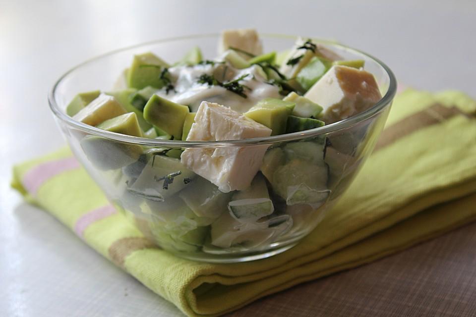 avocado gurken feta salat rezept mit bild von shingoo. Black Bedroom Furniture Sets. Home Design Ideas