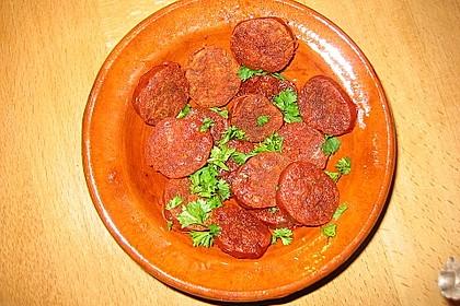 Chorizo-Chips für das Tapas-Büfett 4