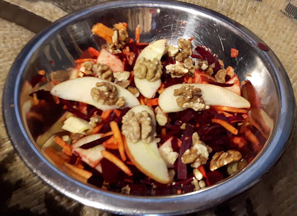 rote bete apfel karotten salat rezept mit bild von diana m ller. Black Bedroom Furniture Sets. Home Design Ideas