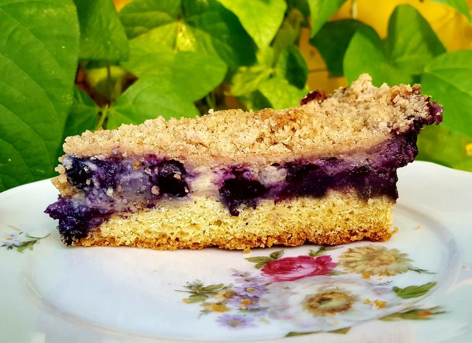 Heidelbeer Pudding Kuchen
