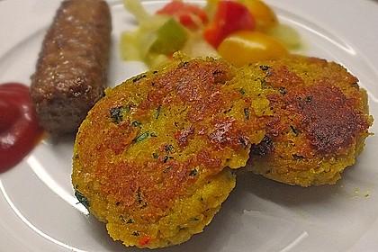 Couscous-Bratlinge mit Käse 11