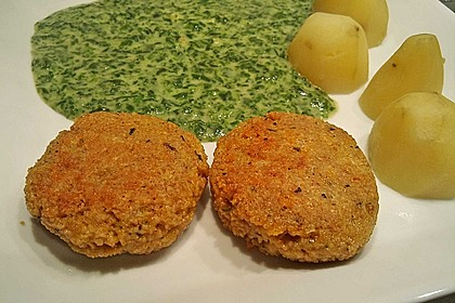 Couscous-Bratlinge mit Käse 32