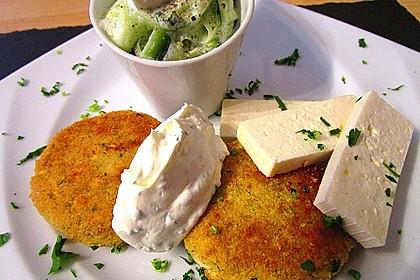 Couscous-Bratlinge mit Käse 14