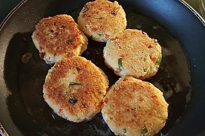 Couscous-Bratlinge mit Käse 49