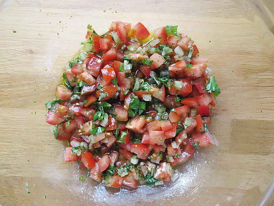 Sommerküche Tomaten : Spaghetti mit kalter sauce aus rohen tomaten von hobbyköchin rj