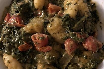 Gnocchi mit Tomaten und Blattspinat 6