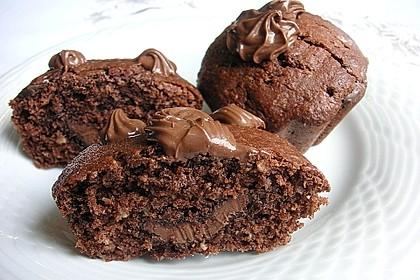 Schoko-Kokos-Nutella-Muffins