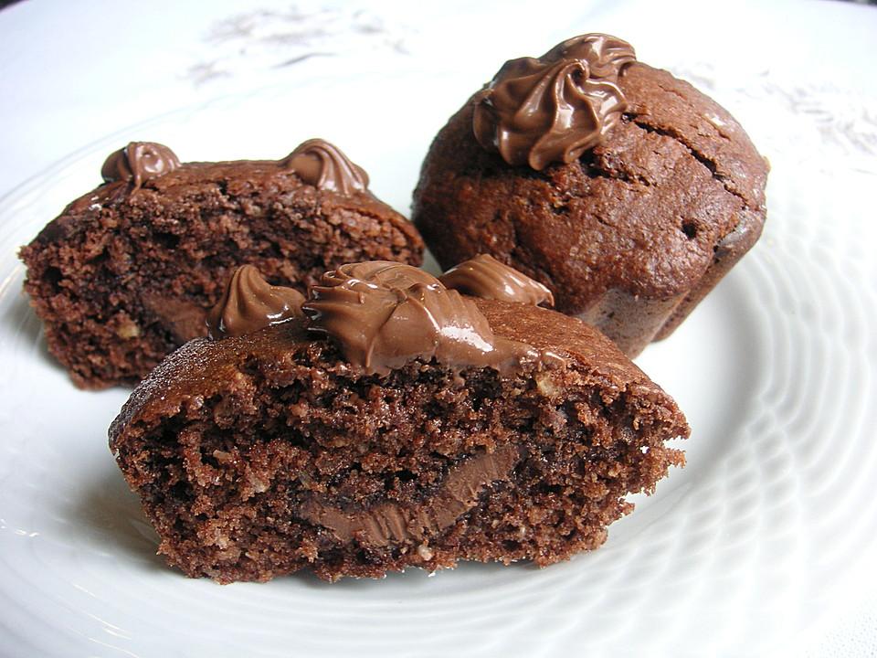 schoko kokos nutella muffins rezept mit bild von lilly83. Black Bedroom Furniture Sets. Home Design Ideas