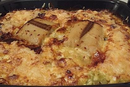 Süß-scharfer Lachs auf Spinat mit Sahnesauce und Honigkruste 35