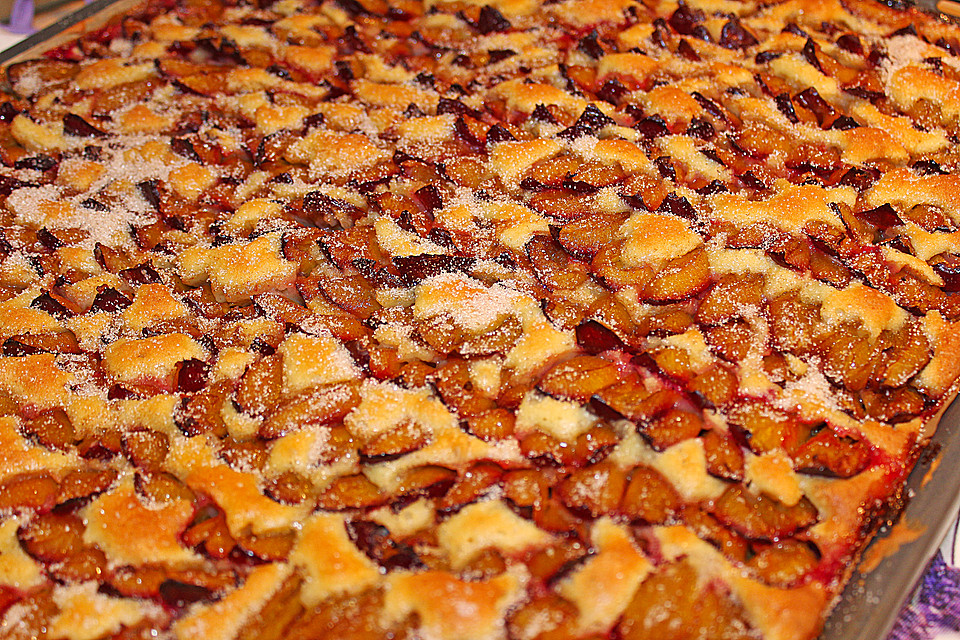 Rezept Zwetschgenkuchen Rührteig pflaumenkuchen auf dem blech richrather chefkoch de