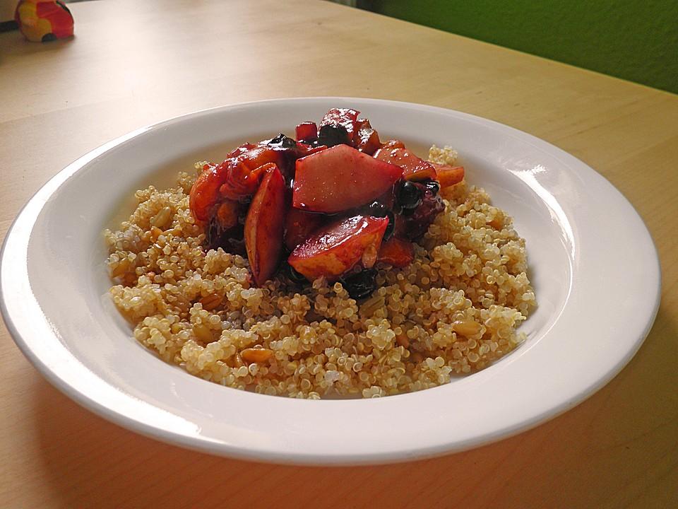 quinoa gr nkern fr hst ck rezept mit bild von frau lou. Black Bedroom Furniture Sets. Home Design Ideas