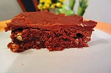 Amerikanische Brownies schön schokoladig und klebrig