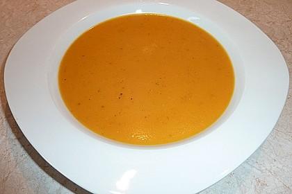 Kürbis-Karotten-Kokos-Ingwer Suppe