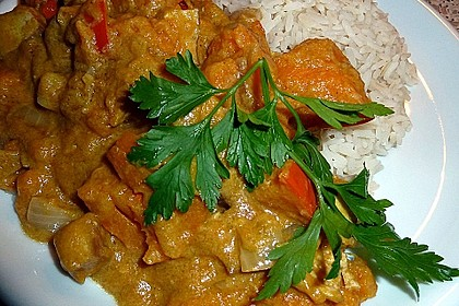 Kürbis-Erdnuss-Curry