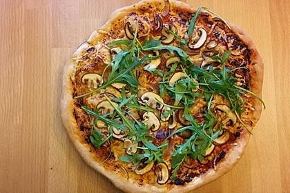 Pizza Knoblauch Champignon Paprika - vegan 5