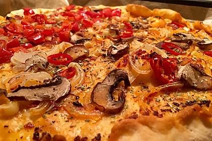 Pizza Knoblauch Champignon Paprika - vegan 1