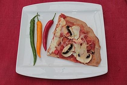 Pizza Knoblauch Champignon Paprika - vegan 8