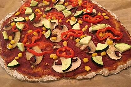 Pizza Knoblauch Champignon Paprika - vegan 3