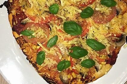 Pizza Knoblauch Champignon Paprika - vegan 12
