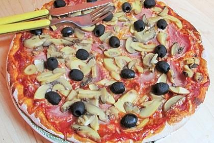 Pizza Knoblauch Champignon Paprika - vegan