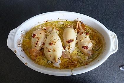 Tintenfischtuben mit Lachs-Büffelkäsefüllung 1