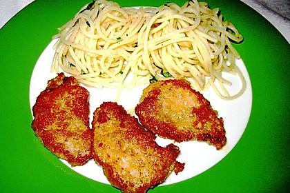 Schweinefilet in Parmesanpanade mit Zitronenspaghetti 3