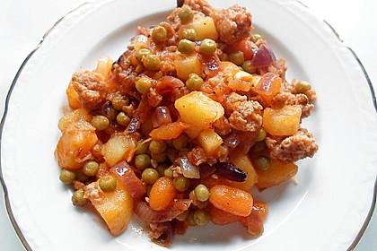 Kartoffel-Gemüse-Hackpfanne für 2 Personen 0