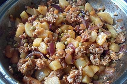 Kartoffel-Gemüse-Hackpfanne für 2 Personen