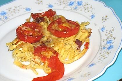 Tomaten-Spätzle Pizza 1