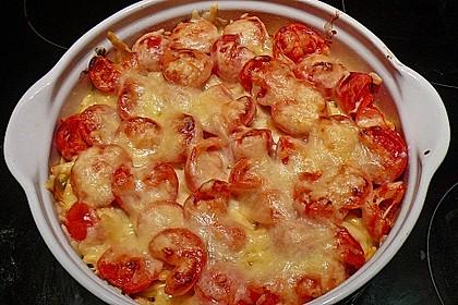 Tomaten-Spätzle Pizza
