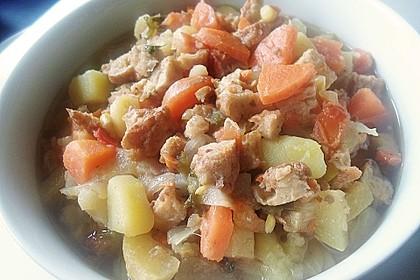 Kartoffel-Gemüse-Apfel-Frikadellenpfanne für 2 Personen