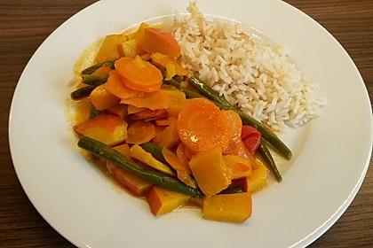Grünes Curry mit Kürbis 3