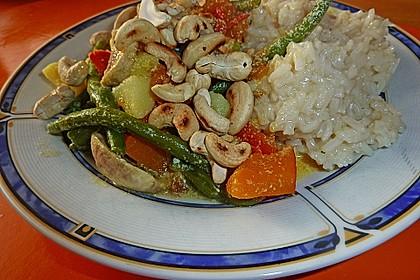 Grünes Curry mit Kürbis