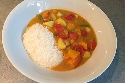 Grünes Curry mit Kürbis 2
