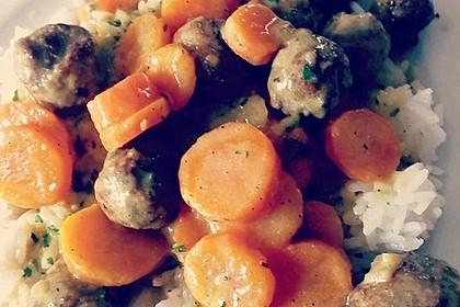 Hackbällchen in Möhren-Currysoße 24