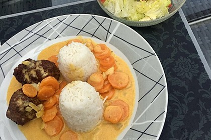 Hackbällchen in Möhren-Currysoße 20