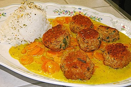 Hackbällchen in Möhren-Currysoße 12