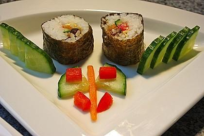 Nori-Maki-Sushi-Füllung Pilze