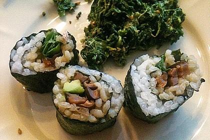 Nori-Maki-Sushi-Füllung Pilze 2