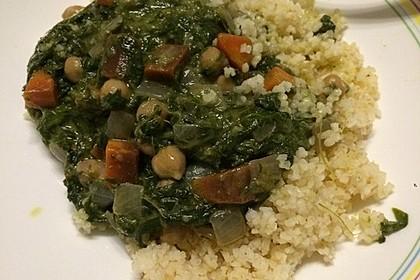 Veganes Kichererbsen-Curry mit Spinat und Möhre 16