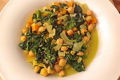 Veganes Kichererbsen-Curry mit Spinat und Möhre 3