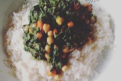 Veganes Kichererbsen-Curry mit Spinat und Möhre 13