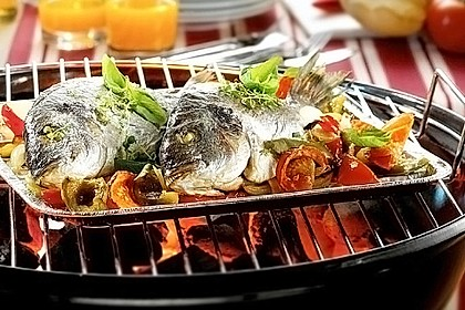 Dorade Barbecue Style vom Grill