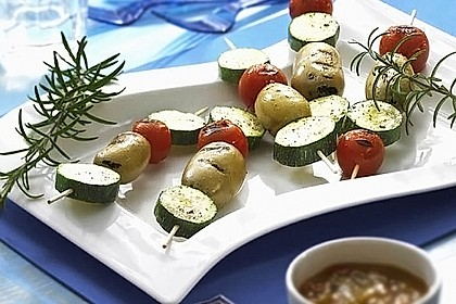 Vegetarische Spieße vom Grill 0