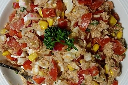 kalorienarmer thunfischsalat, thunfischsalat für diätwillige von koelkast   chefkoch.de, Design ideen