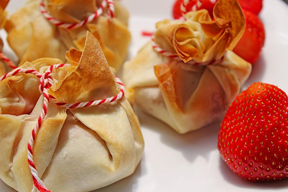 Filobeutel mit Erdbeer-Schoko-Füllung