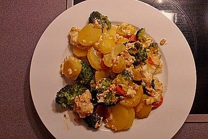 Camembert-Kartoffel-Gemüse Auflauf